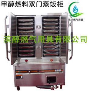 甲醇燃料專用灶具雙門蒸蒸飯車廠家直銷也可訂做