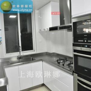豪华型高档家用全不锈钢整体橱柜定制 上海欧琳娜不锈钢橱柜厂