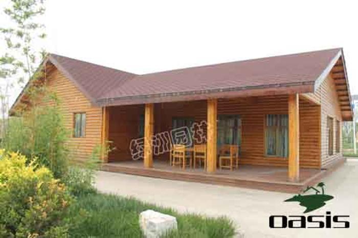商品详情-绿洲园林定制实木欧美式木屋--特乐意商城