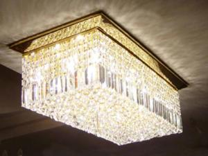 双林厂家批发方形水晶灯 客厅吸顶方形水晶灯 别墅水晶灯定制
