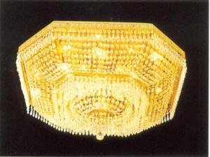 双林厂家批发多边形水晶灯 客厅吸顶椭圆形水晶灯 别墅水晶灯定制