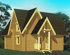 寶鴻榮川定制款 單層木屋建筑