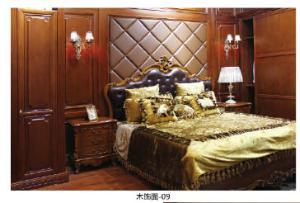 木宜居護墻板中高檔歐式護墻板定制家裝木飾面定制衣柜造型門護墻板