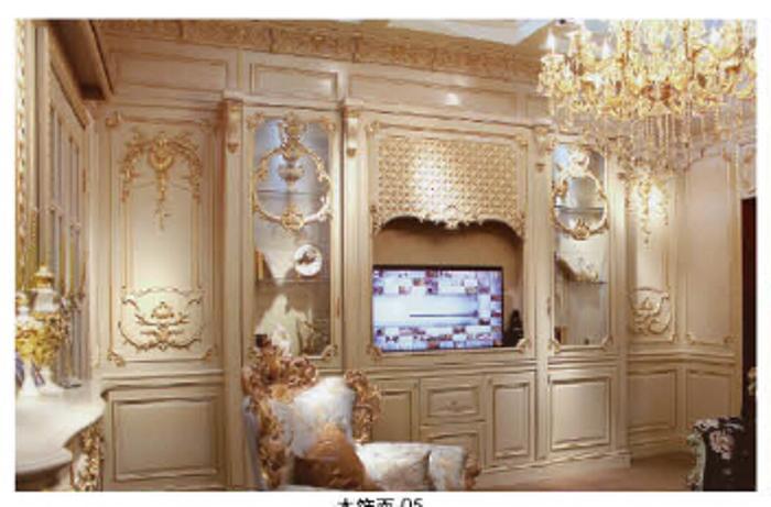 木宜居护墙板中高档欧式护墙板定制家装木饰面定制衣图片