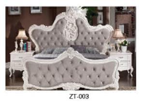 木宜居奢华欧式床 美式结婚床 双人床1.8米皮床 样板房别墅实木家具批发