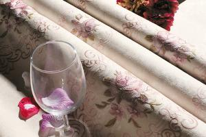 无缝墙布 壁布 承接工程 厂家直销 艾美世家刺绣系列