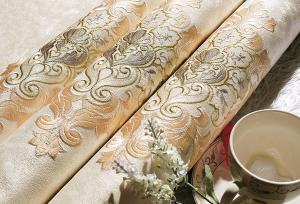 工厂直销 绍兴高精密刺绣无缝墙布 艾美世家家居软装高端刺绣无缝壁布