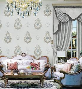 艾美世家厂家直销 无缝墙布 华丽提花 经典优雅 经久如新 胡强耐磨