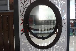 圓窗 鋁合金中懸圓窗 中空玻璃圓窗 中懸橢圓窗 疏風圓窗 采光窗