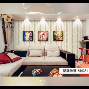 无纺布墙纸复古作旧简约竖条纹壁纸 客厅 卧室 书房 餐厅