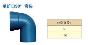 单扩口90° 弯头  乾通塑胶