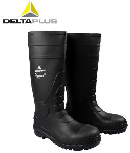 代尔塔 防化靴 防砸 防刺穿耐酸碱防水 工作雨鞋防滑雨靴