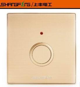 上丰开关插座面板 高档金拉丝墙壁触摸延时复位开关面板 L86系列