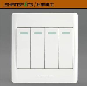 上丰电工 86型4开开关 四开单控开关 四联开关 四开开关 F86系列