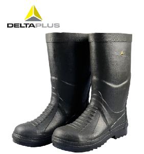 代尔塔雨鞋耐高温劳保工作防化靴钢包头防砸防穿刺防静电耐磨防滑