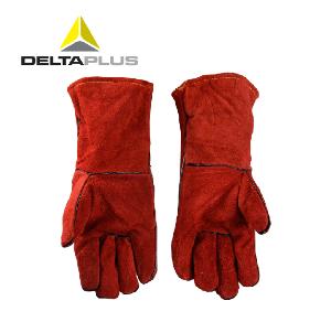 代尔塔电焊手套 隔热牛皮手套焊接工阻燃 防金属飞溅阻燃棉内衬