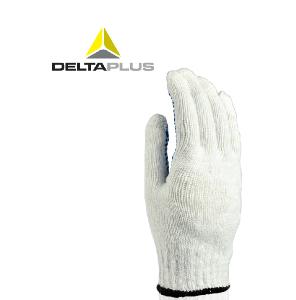 代尔塔针织手套 工作劳保手套透气PVC点塑防滑耐磨搬运轻便舒适