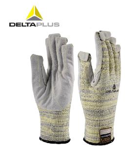 代爾塔手套工作勞保防切割手套真牛皮耐磨抗撕裂防穿刺耐高溫手套
