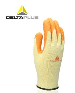 代爾塔天然乳膠涂層勞保工作手套透氣 抗撕裂緊握度高內襯袖口