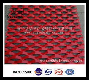 外墙装饰铝板网 红色喷塑铝拉伸网