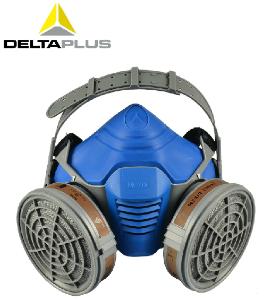 代尔塔防毒面具 防毒口罩喷漆专用化工防烟面罩活性炭防护口罩