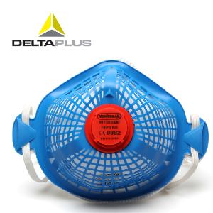 代尔塔防尘口罩防工业粉尘口罩专业打磨骑行男FFP3头戴式带呼吸阀