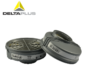 代爾塔防塵濾盒105129防工業粉塵半面具面罩配件水泥搬運PM2.5