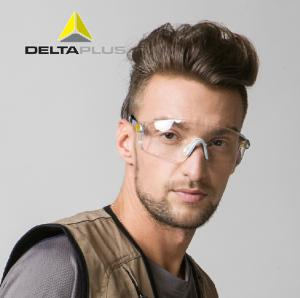 代尔塔护目镜防尘防沙风防护眼镜 防冲击紫外线防雾透明骑行眼镜