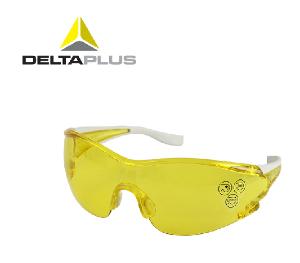 代尔塔护目镜 防尘防风沙防护眼镜黄色偏光增亮防冲击骑行护目镜