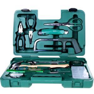 世达五金工具基本家用家居维修组套锤子扳手卷尺钢丝钳电笔/15件基本维修组套06008