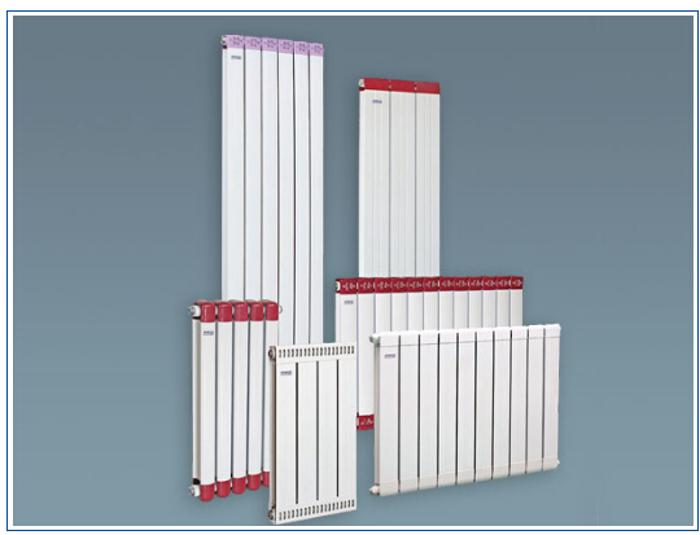 2)批发供应散热器 暧气片,铜铝复合 暖气片 散热器