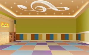 江蘇學校音樂教室吸音pvc地板,博高音樂教室耐磨塑膠地板