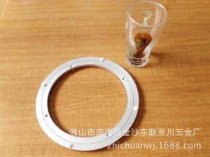 10寸餐桌餐台铝转盘玻璃转盘