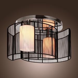 詩亮燈飾 黑色太極吸頂燈客廳臥室現代簡約燈飾酒店工程燈
