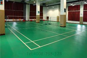 江苏羽毛球场专用运动地胶,厂价直销博高羽毛球馆塑胶地板