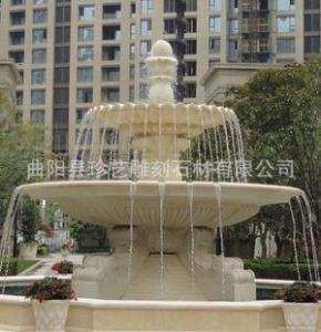 曲阳雕刻 特价定制 欧式喷泉 大理石黄锈石喷泉 风水球 畅销款