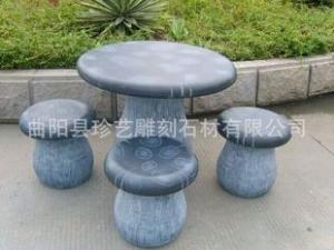 曲阳雕刻 定做圆桌 石桌石凳 石雕圆桌 庭院石桌 蘑菇造型石桌