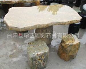 曲阳雕刻 仿古石桌 自然石石桌 别墅庭院石桌摆件 加工订做