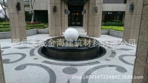 G623#+蒙古黑荔枝面地铺水刀拼花