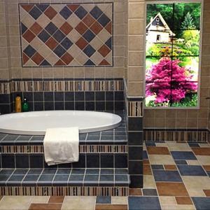 特价地中海仿古砖150美式欧式厨房卫生间300瓷砖阳台防滑地砖混拼