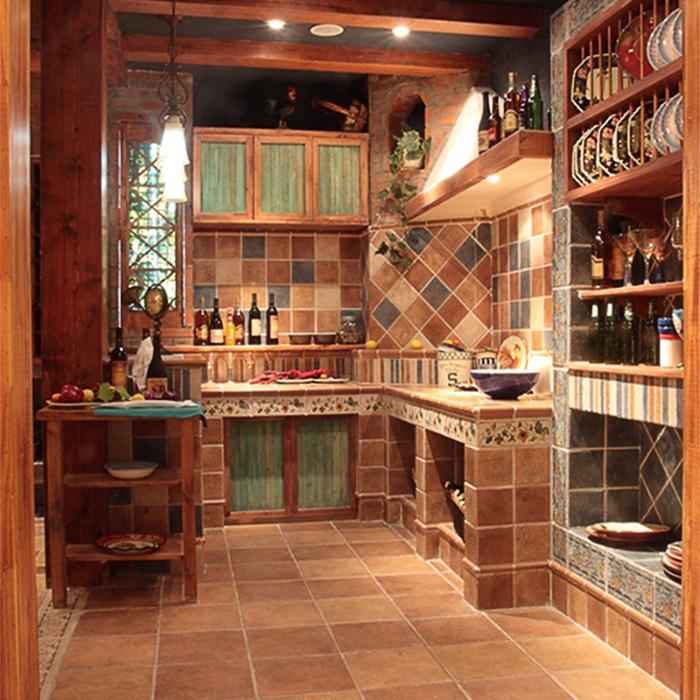 特价地中海仿古砖150美式欧式厨房卫生间300瓷砖阳台