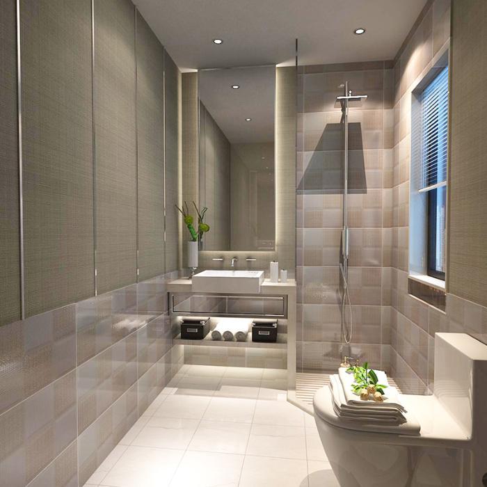 特价厨房瓷砖300 600卫生间墙砖 厨卫防滑浴室墙地砖仿布纹釉面砖