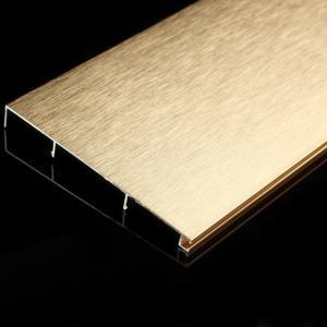 鋁合金踢腳線地腳線 廠家直銷 8cm鈦金拉絲金屬踢腳線
