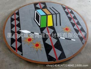 供应福建石材 福鼎黑喷砂面+阴刻填漆艺术图案