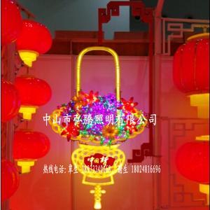 LED中國夢花籃燈 戶外城市道路廣場LED花籃燈造型景觀燈 廠家直銷