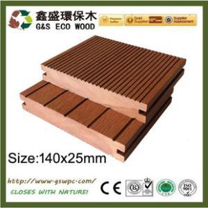 【厂家直销】140x25 塑木实心地板