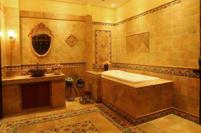 促销蜜蜂3068仿古砖300厨房卫生间炫彩喷墨四方格欧式墙地瓷砖