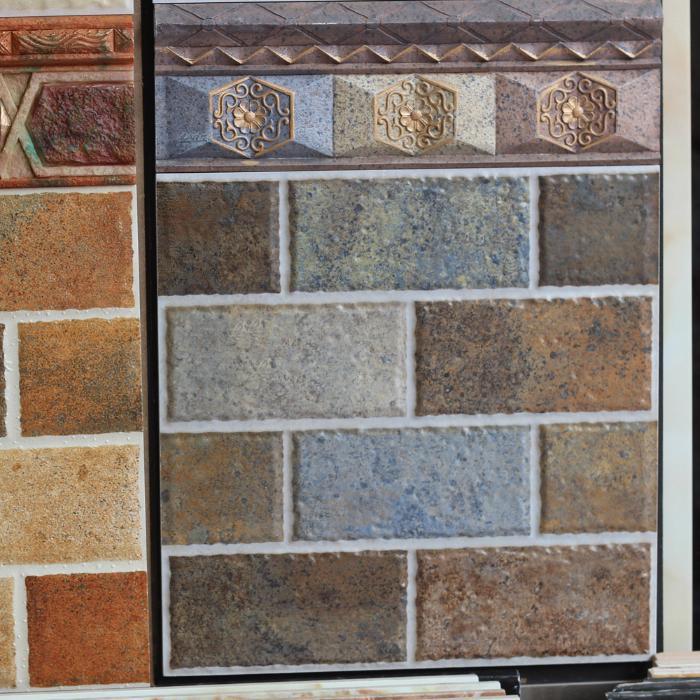 300厨房卫生间仿砖头田园仿古砖地砖美式