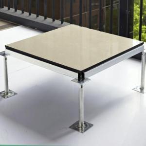 全钢防静电架空地板陶瓷机房瓷砖玻化砖象牙白活动地板抗静电地板