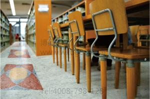 博高阅览室吸音PVC塑胶地板,图书馆塑胶地板厂家